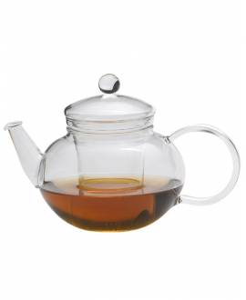 high-resistant borosilicate glass round teapot 800 ml