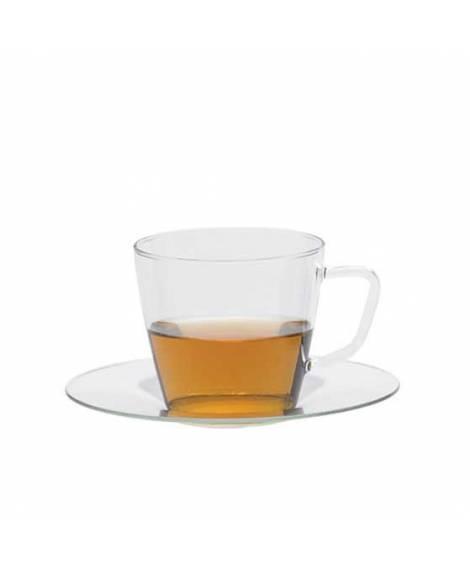 Taza vidrio borosilicato con Platillo 250 ml