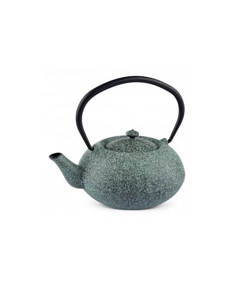 "Emaneled high quality cast-iron teapot ""Green Mint"""